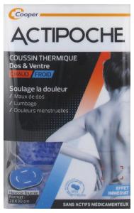 ACTIPOCHE POCHE MICROBILLES DOS ET VENTRE Coussin thermique pour les maux de dos
