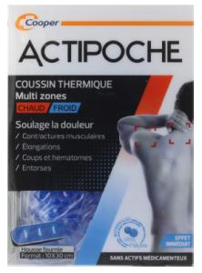 ACTIPOCHE POCHE MICROBILLES MULTI ZONES Coussin thermique pouvant soulager les douleurs