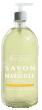 Beauterra savon liquide de marseille surgras à l'huile d'amande douce et aloe vera flacon pompe